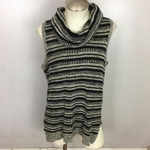 Maurices Cowl Sleeveless Knit Sweater Top Large